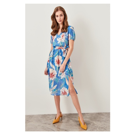 Trendyol Blue Patterned Dress