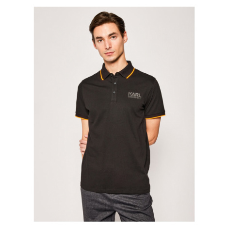 KARL LAGERFELD Polo 755085 501223 Czarny Regular Fit