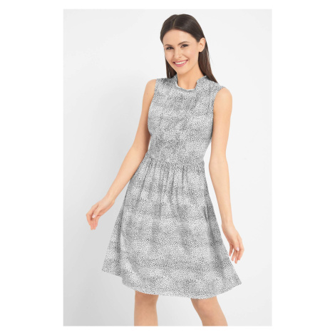 Sukienka w zwierzęcy wzór Orsay