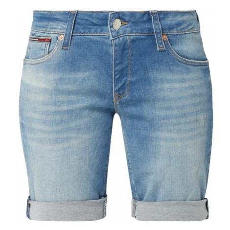 Bermudy jeansowe z efektem znoszenia Tommy Hilfiger