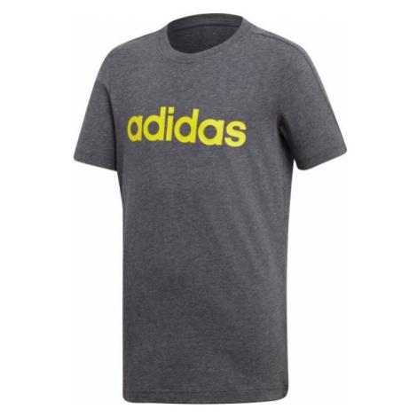 adidas LINEAR TEE szary 128 - Koszulka chłopięca