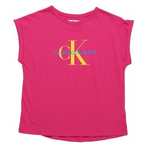 Calvin Klein Jeans Koszulka 'MONOGRAM' żółty / purpurowy