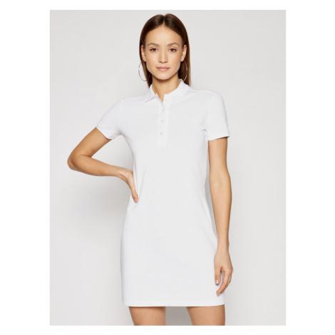 Lacoste Sukienka codzienna EF5473 Biały Slim Fit