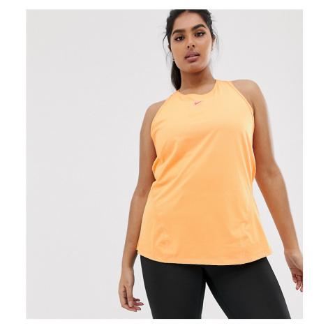 Nike Training Plus Tank In Orange