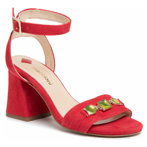 Sandały MACCIONI - 991.124.4735 Czerwony