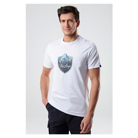 Biały T-shirt LOAP Alesh