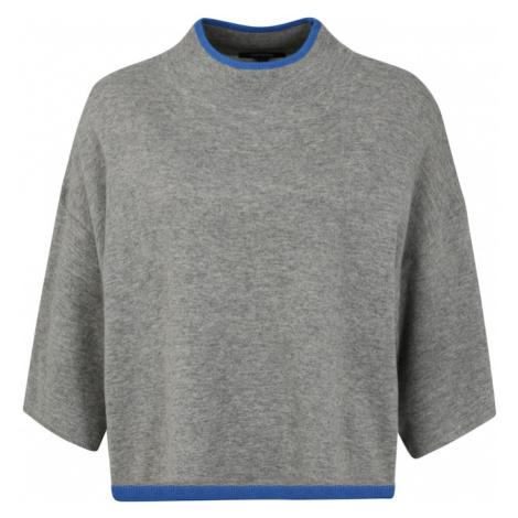 COMMA Sweter 'Poncho' niebieski / szary / czarny
