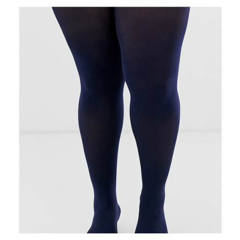 ASOS DESIGN Curve 60 denier superstretch tights in navy