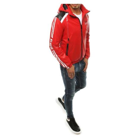 Czerwona męska przejściowa kurtka z kapturem TX3446 DStreet