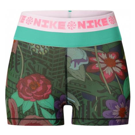 NIKE Spodnie sportowe 'Icon Clash' zielony / ciemnofioletowy / granatowy / różowy / brązowy