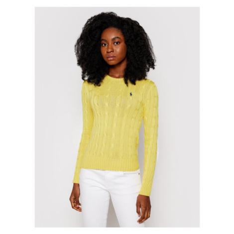 Polo Ralph Lauren Sweter Lsl 211580009087 Żółty Regular Fit