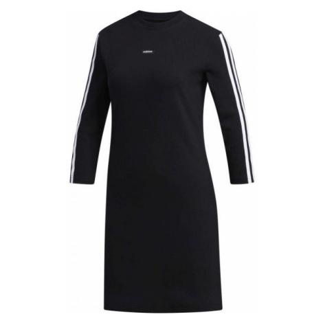 adidas MOMENT DRESS czarny L - Sukienka damska
