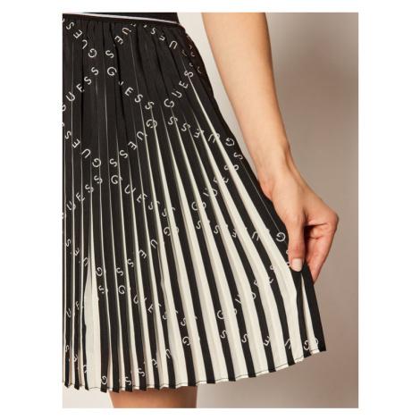 Guess Spódnica plisowana Page W0YD90 WD3K0 Czarny Regular Fit