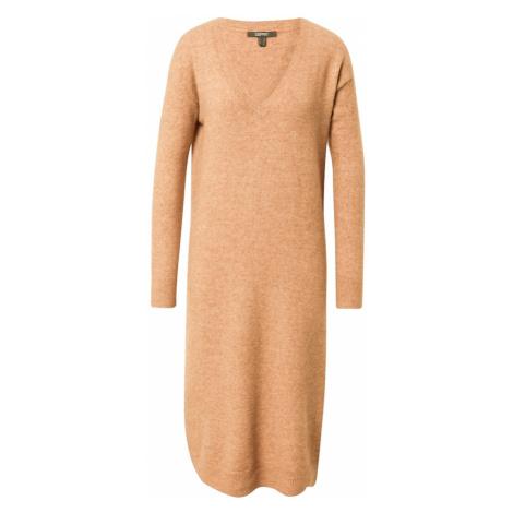 Esprit Collection Sukienka z dzianiny nakrapiany beż