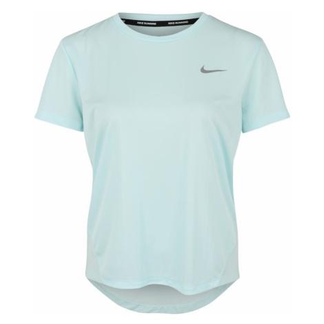 NIKE Koszulka funkcyjna 'MILER' jasnoniebieski / srebrny