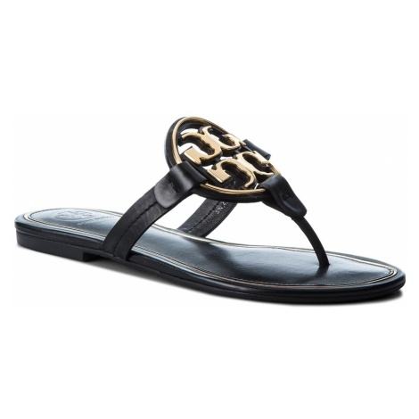 Japonki TORY BURCH - Metal Miller 47617 Perfect Black/Gold 013