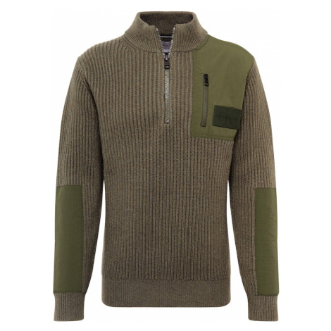 Calvin Klein Jeans Sweter ciemnozielony / khaki