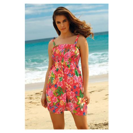 Sukienka plażowa Leafy Coral Ysabel Mora