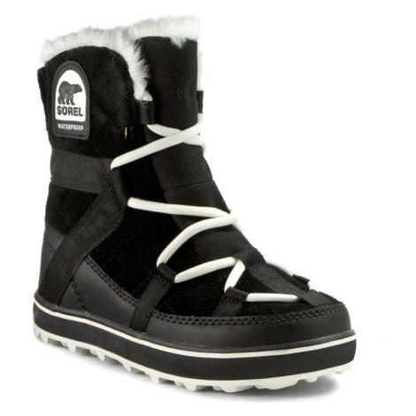Śniegowce SOREL - Glacy Explorer Shortie NL2079 Black 010