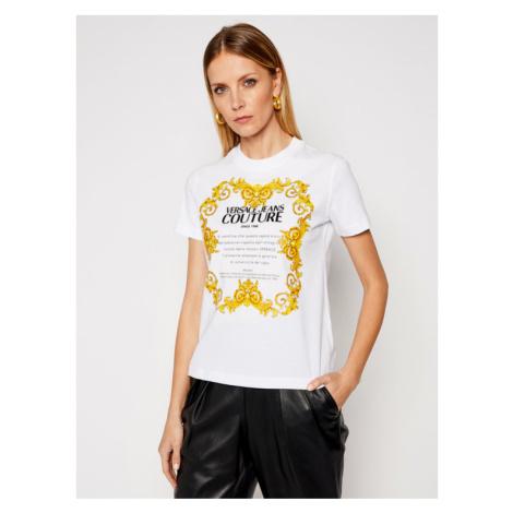 Versace Jeans Couture T-Shirt B2HWA7TJ Biały Regular Fit