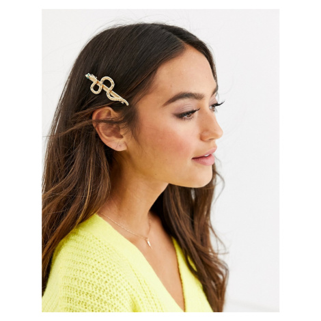 Pieces snake hair clip in gold