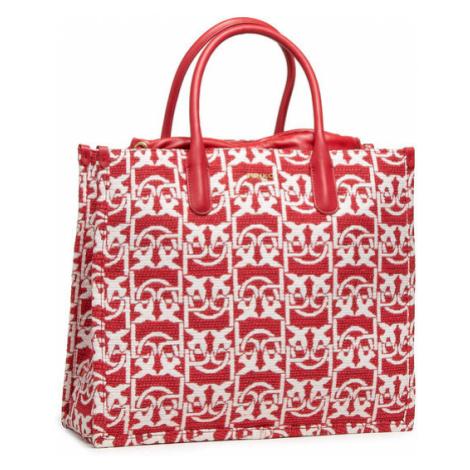 Pinko Torebka Love Shopping Monogram Al 20-21 PLTT 1P21WX Y6NQ Czerwony