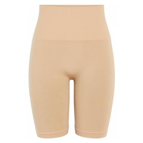 PIECES Spodnie modelujące 'PCIMAGINE SHAPEWEAR SHORTS NOOS' brązowy
