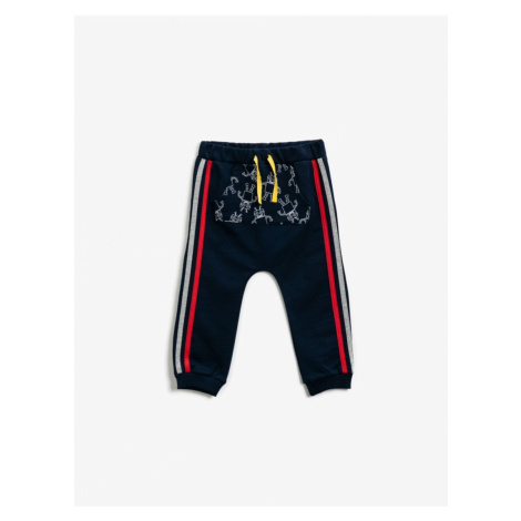 Koton Cotton Drukowane Kangaroo Pocket Spodnie Spodnie dno