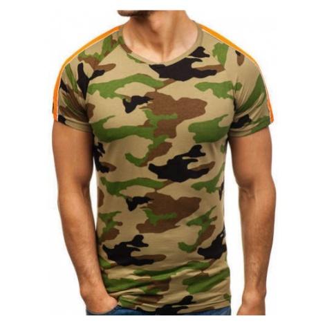 T-shirt męski z nadrukiem moro-khaki Denley 2072-A MECHANICH
