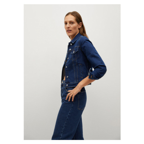 Mango Kurtka jeansowa Vicky 87014754 Granatowy Regular Fit