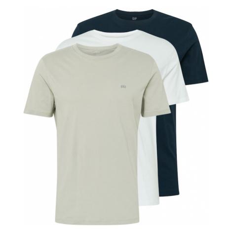 GAP Koszulka beżowy / biały / benzyna