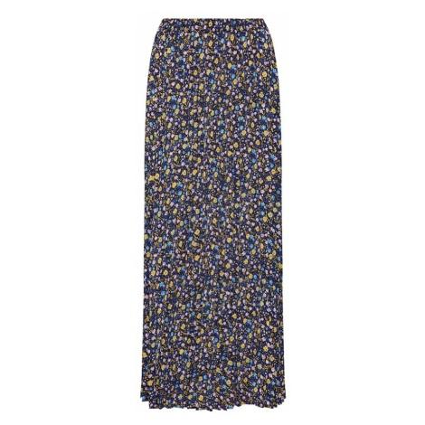 ONLY Spódnica 'onlPHOEBE LONG PLISSE SKIRT WVN' niebieski / żółty / biały