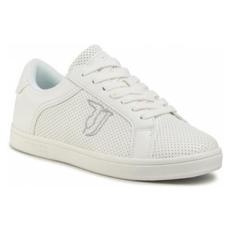 Trussardi Jeans Sneakersy 79A00528 Biały