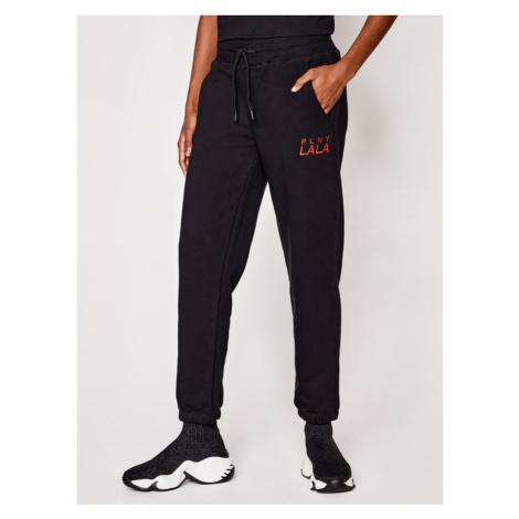 PLNY LALA Spodnie dresowe Prima PL-SP-MS-00006 Czarny Mister Fit