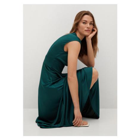Mango Sukienka midi Juliet 87005550 Zielony Regular Fit