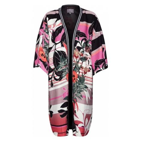 CULTURE Kimono 'Nawal' koralowy / czarny / biały