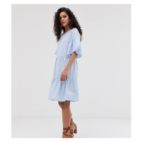Y.A.S Tall stripe smock mini dress
