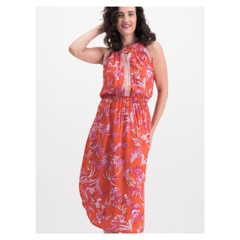 Blutsgeschwister pomarańczowy maxi sukienka Sommer in vollem Gange