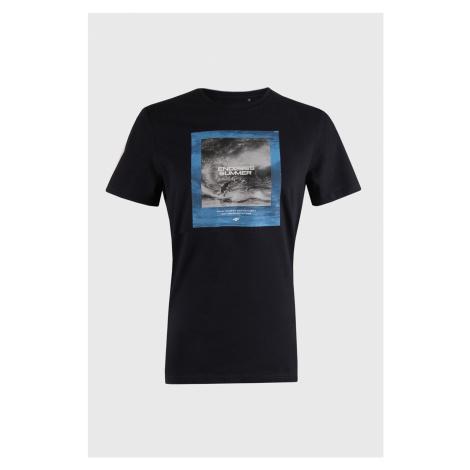 Granatowy T-shirt Sea 4F
