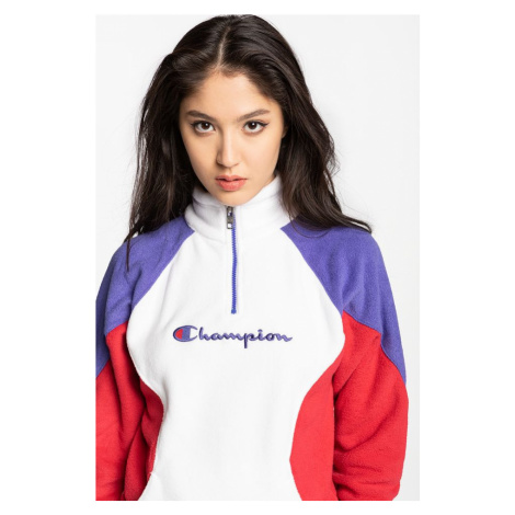 Bluza Champion High Neck Top 113347-Ww001 White/violet/red