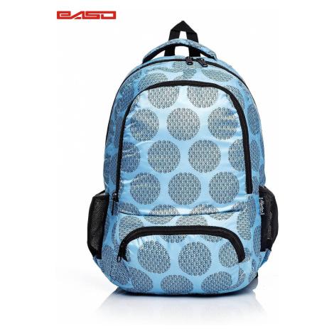 Niebieski plecak szkolny z motywem graficznym