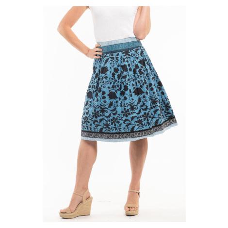 Orientique niebieska spódnica dwustronna Crete