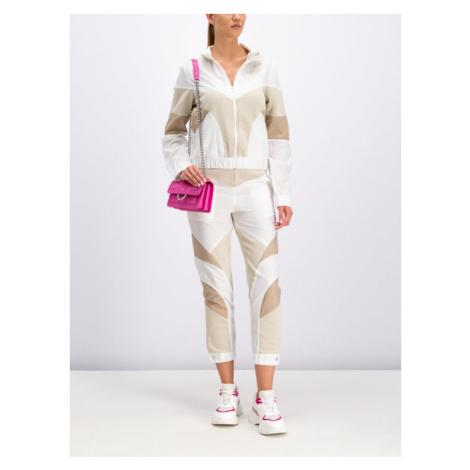 Pinko Spodnie dresowe 20191 PJEAN 1X10D9 7462 Beżowy Regular Fit