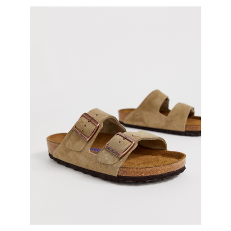 Birkenstock Arizona in taupe suede