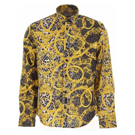 Versace Jeans Couture Koszula dla Mężczyzn Na Wyprzedaży, multikolor, Bawełna, 2019