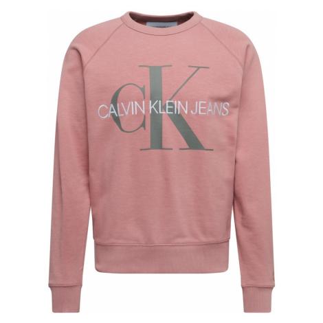 Calvin Klein Jeans Bluzka sportowa różowy pudrowy / szary / biały