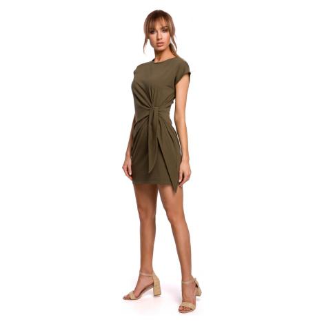 Made Of Emotion Woman's Dress M508 Khaki