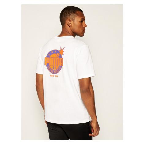 Puma T-Shirt THE HUNDREDS Tee 596750 Biały Regular Fit