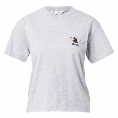 Miss Selfridge Koszulka 'Bee Strong' szary