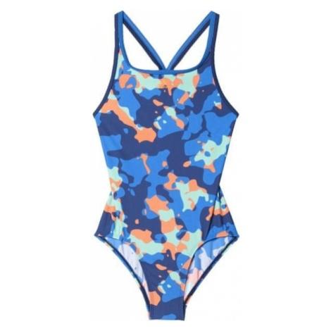 Adidas strój kąpielowy By Aop Suit Mystery Blue /Blue/Glow Orange /Easy Green